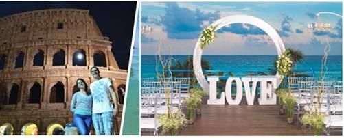 Image result for Una pareja eligió viajar por 21 países de luna de miel en vez de celebrar su boda